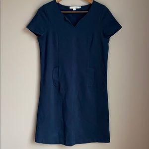 Boden Short Sleeve Navy Dress 8